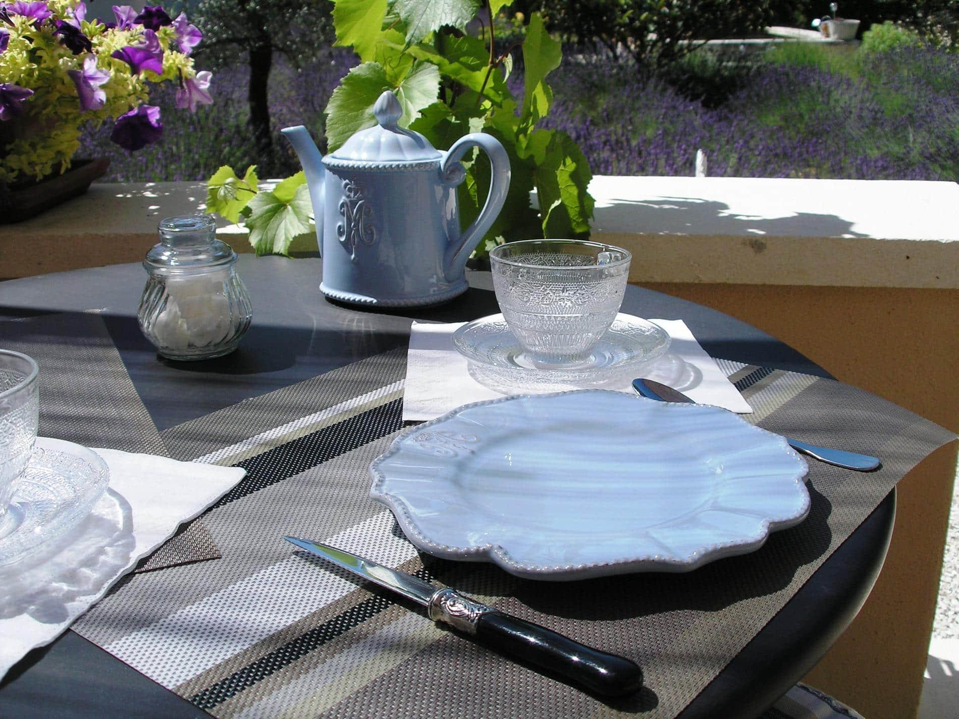 Sweet and salty full breakfast in terrace